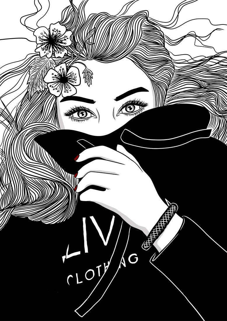 tumblr outline illustration katrin wolff